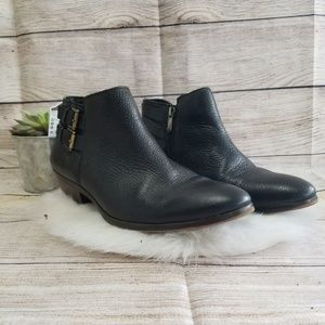 Sam Edelman 'petal' black leather ankle booties